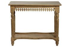 One Kings Lane - Downstairs - Agrippa Console Table, Natural