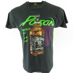 8f96c02b3 Vintage 80s Poison Whiskey Poker Concert Band T-shirt XL Nothin But a Good  Time