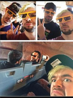 Markiplier, Jacksepticeye, Pewdiepie, CinammonToastKen, Ryan and Matt crash Disneyland, aka people having more fun in one weekend than I've had in my whole life