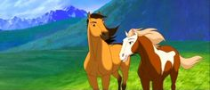 Disney Films, Disney Pixar, Spirit Horse Movie, Spirit And Rain, Horse Movies, Horse Cartoon, Pretty Horses, Horse Art, Wild Horses
