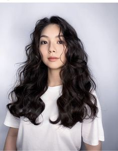 Asian Hair Perm, Curly Asian Hair, Korean Wavy Hair, Curly Hair Cuts, Long Curly Hair, Korean Curls, Korean Wedding Hair, Hair Addiction, Hair Up Styles