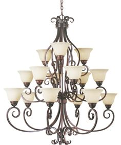 Maxim Lighting 12209 Manor 45 Inch Large Foyer Chandelier