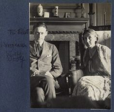 T.S. Eliot; Virginia Woolf.  Junio,1924. Fotografía de Lady Ottoline Morrell