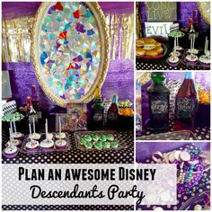 Plan an awesome Disney Descendants party with these easy diys and yummy treats #villaindescendants #ad
