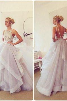 Halter A-Line Prom Dress