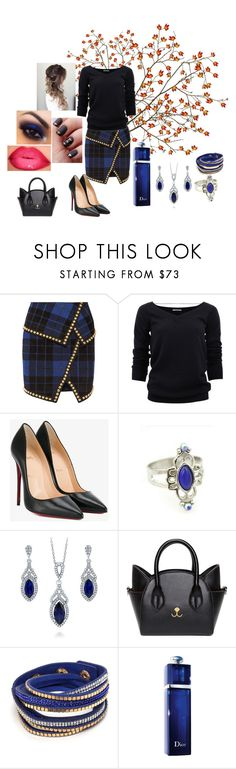 """Sans titre #613"" by susanaxalex ❤ liked on Polyvore featuring Balmain, Brunello Cucinelli, Christian Louboutin, BERRICLE and Christian Dior"