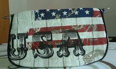 Schnabelina Tasche mini USA Pot Holders, Usa, Mini, Handmade, Dime Bags, Potholders, Hand Made, America, Handarbeit
