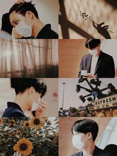 kim jong in // kai exo lockscreen Bts Aesthetic Wallpaper For Phone, Aesthetic Backgrounds, Aesthetic Wallpapers, Chanyeol Baekhyun, Exo Kai, Park Chanyeol, Aesthetic Collage, Kpop Aesthetic, K Pop