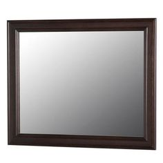 Home Decorators Collection Annakin 25.6 in. L x 31.4 in. W Wall Mirror in Chocolate-CLWM26-CH - The Home Depot