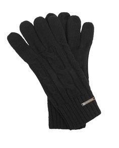 Michael Michael Kors Text Glove in Black | eLUXE
