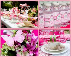 Girls Birthday Princess Tea Party - Kara's Party Ideas - The Place for All Things Party Princess Tea Party, Princess Birthday, Girl Birthday, Birthday Ideas, Pink Princess, Disney Princess, Birthday Crowns, Princess Sophia, Butterfly Party