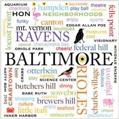 i <3 baltimore. i'm sad/surprised patterson park isn't represented, but love that pigtown is!