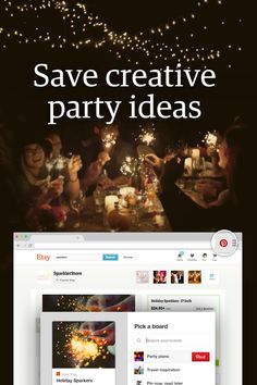 Get the party started with festive ideas you find around the web.  To save your finds for later, all you need is the Pinterest browser button: http://pin.it/TQI28FV.