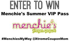 Enter our Menchie's Canada Frozen Yogurt Giveaway for your chance to win a Menchie's Summer VIP Pass, your ticket to FREE Menchie's Frozen Yogurt! #MenchiesMyWay  ENTER NOW --> http://bit.ly/1Ikw88F