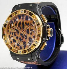 New-Ladies-Hublot-Big-Bang-Lady-Leopard-Chronograph-Watch-18k-Rose-Gold-41mm