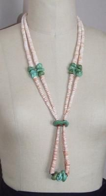 Traditional Lakota Plains Southwest Turquoise & Shell Necklace