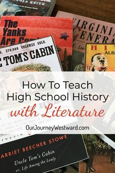 How To Teach High School History with Literature Easily Teaching high school history using living literature was an incredible effort for me.until I found this amazing curriculum! High School World History, High School Literature, High School Curriculum, Homeschool Curriculum Reviews, High School Classroom, History Classroom, High School American History, High School English, Online Homeschooling