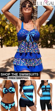 Blue Summer Swimsuits For Beach Vacation Sport Outfits, Cute Outfits, Vintage Swimsuits, Plus Size Swimsuits, Beachwear, Swimwear, Swim Dress, Spring Summer Fashion, One Piece Swimsuit