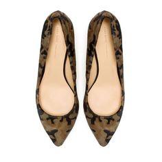 Leather Court Shoe (khaki) - Zara