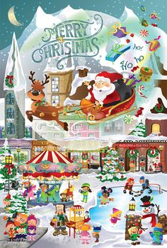 A Christmas Village, 625 Pieces, SunsOut   Puzzle Warehouse