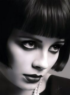 Mary Louise Brooks (November 14, 1906 – August 8, 1985), generally known by her stage name Louise Brooks, was an American dancer and actress, noted for popularizing the bobbed haircut . . . Wikipedia: http://en.wikipedia.org/wiki/Louise_Brooks