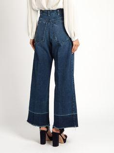 Legion frayed-edge wide-leg jeans   Rachel Comey