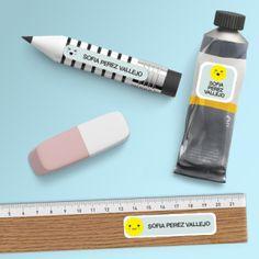 Paquete de etiquetas para útiles