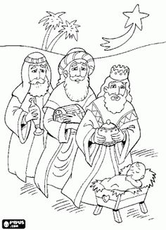 Jesus Christ Navity And Three Wise Men Advent Coloring Pages Nativity Coloring Pages, School Coloring Pages, Bible Coloring Pages, Coloring Pages To Print, Adult Coloring Pages, Coloring Books, Kids Coloring, Christmas Coloring Sheets, King Picture