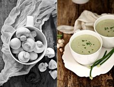 Cream of Mushroom Soup #mushrooms #vegetarian #oats #lowfat #foodstyling #foodphotography