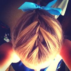 Softball hair for my scrimmageee