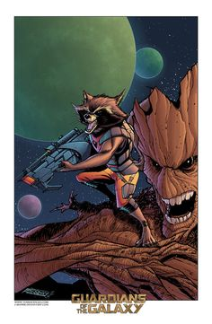 "Rocket and Groot ""Guardians of the Galaxy"" SDCC 2014 print NON-Attendees"