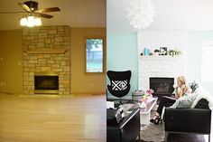 bright, cheery, clean  - Before & After: 8 Complete Living Room Makeover Projects from Around the Web