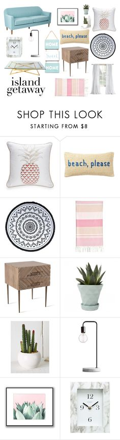 """""""Dream Beach Home"""" by empickering1 ❤ liked on Polyvore featuring interior, interiors, interior design, home, home decor, interior decorating, New Directions, Nordstrom Rack, You, Me and the Dream and Linum Home Textiles"""