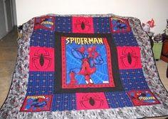SpiderMan Child Quilt. $80.00, via Etsy.   etsy   Pinterest ... : spiderman quilt - Adamdwight.com