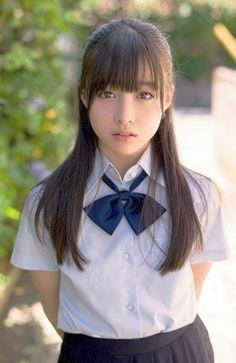 Imagen de beauty, girl, and student Beautiful Japanese Girl, Japanese Beauty, Beautiful Asian Women, Asian Beauty, School Girl Japan, Japan Girl, Cute Asian Girls, Cute Girls, Japonese Girl