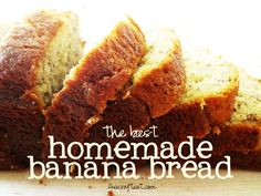 homemade banana bread recipe - uses sour cream, so it's super soft and moist! a great way to use up those bananas that no one ate.... | www.livecrafteat.com