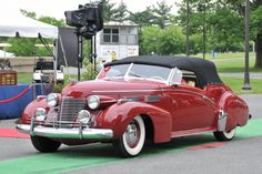 Cadillac, late 1930's custom convertible, maybe by Bonham & Schwartz #1949cadillacconvertibleclassiccars