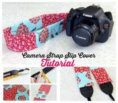 Easy camera strap slipcover tutorial.