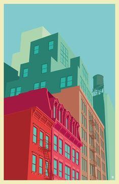 Mulberry street SOHO, an art print by Remko Gap Heemskerk - INPRNT