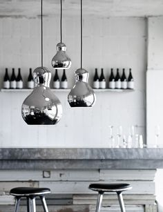 Calabash Silver designed by Komplot Design http://www.lightyears.dk/lamps/pendants/calabash-silver.aspx