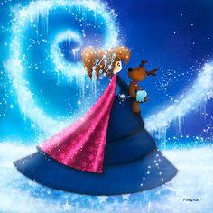 Princesse des neiges | décoration chambre d'enfant