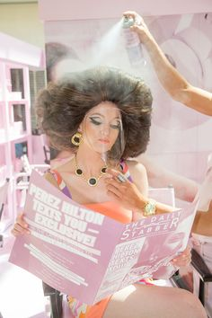 Curly Perm, Helmet Hair, High Hair, Beehive Hair, Bouffant Hair, Pink Poodle, Retro Hairstyles, Hairspray, Beauty Shop