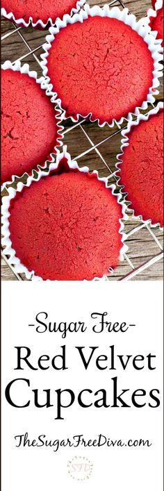 Sugar Free Red Velvet Cupcake Recipe