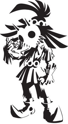 Skull Kid Stencil. Kind if want this as a tattoo o.o