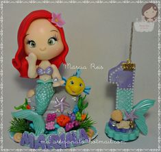 Biscuit, Christmas Ornaments, Holiday Decor, Mini, Home Decor, Small Cake, Mermaid, Decorated Candles, Meet