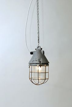 Pendant industrial  lamps  in metal and glass Météor 3. by ALTBEAU, €130.00