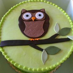 Owl Baby shower cake.  Woodland creatures theme.  It was so good.