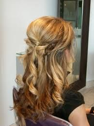 Image result for half up half down wedding hair
