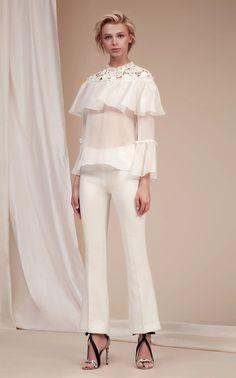 Long Sleeve Silk Blouse by GIAMBATTISTA VALLI