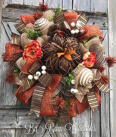 Fall Wreath Autumn Wreath Rustic Fall Wreath Halloween